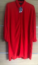 Topshop Size 6 8 10 Red Shirt Dress Bnwt