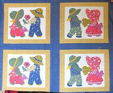 Sunbonnet Sue & Calico Overall Boy Sam cheater fabric panel blocks set of 4