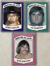 1982 Wrestling All Stars Series B Bobby Duncum/Les Thornton/Buck Zum Hofe Cards