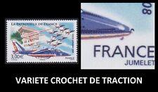 2008 FRANCE PA 71** VARIETE CROCHET de TRACTION La patrouille de France MNH