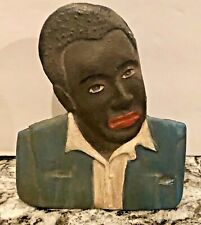 ~Vintage~Metalware~Cast Iron~Die Cut~Elegant Man~Self Standing~Rare~Fabulous!~
