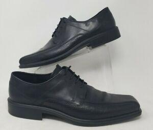 Ecco Bicycle-Toe Black Sz 13.5 47 EU Men Dress Shoe Oxfords