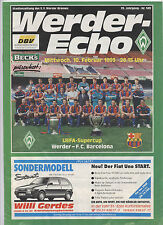 ORIG. prg UEFA Super Cup 1992 Finale werder bremen-fc barcelona rara vez!!!