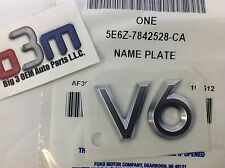 "2005-2012 Ford Escape Mercury Mariner ""V6"" NAMEPLATE Emblem OEM 5E6Z-7842528-CA"