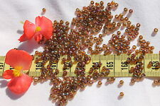 8/0 Toho Glass Seed Beads 128-Gold Lustered Dark Topaz /14gr/# 459
