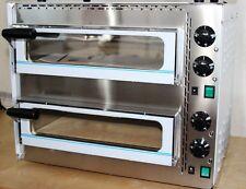 FORNO PIZZA REFRATTARIO CAMERA DOPPIA DA 50° A 400°C  INOX FORNI R.G.V. OVEN