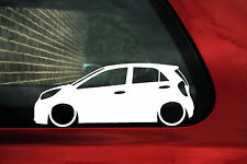 2x LOW Kia Picanto (TA, 2011-) 2nd Gen outline , silhouette car stickers, Decals