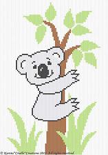 Crochet Patterns - KOALA BEAR IN TREE Graph/Chart Baby Afghan Pattern