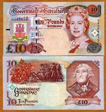 GIBRALTAR, 10 pounds, 2006, QEII, P-32, CV=$70, UNC
