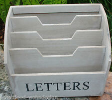 Desk Organiser Letter Tray Magazine File Mail Collector Ablagebox Holzbox