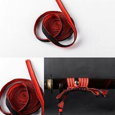 New Black Red Silk Sageo Special For Japanese Katana Wakizashi Tanto