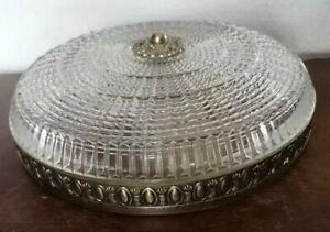 Wundervolle Plafoniere Kronleuchter Antike Deckenlampe herrlicher Glas Schirm
