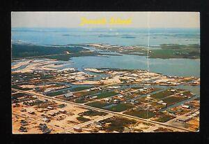1970 Aerial View Fenwick Island DE Sussex Co Postcard Delaware