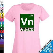 Ladies Vegan Tshirt Vegetarian Diet T shirt - Veggie Science VN Periodic Table