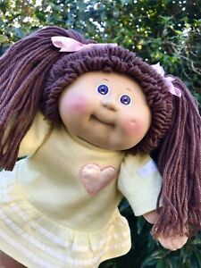 Cabbage Patch Doll - Brunette Girl With Purple Eyes