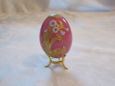 Faberge Egg Pink Imperial Jeweled Collection by Franklin Mint