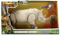 Jumanji Lanard Charging Rhino And Action Figure With Sounds Articulated Gift