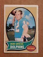 1970 Topps Set Break #10 Bob Griese VG-VGEX Football Card HOF Miami Dolphins