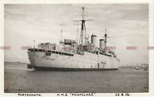 "Photograph Royal Navy. Hms ""Montclare"" Depot Ship. Laid up Portsmouth Fine 1956"