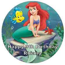 Little Mermaid Personalised Wafer Paper Topper For Large Cake Various Sizes 7.5""