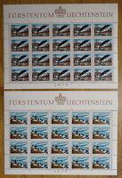 Liechtenstein 723 - 724 postfrisch KB Bogen Satz Kleinbogen Motiv Zeppelin