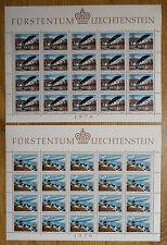 Liechtenstein Bogen Satz 723 - 724 KB postfrisch Kleinbogen Motiv Zeppelin