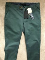 "TED BAKER GREEN ""SORCOR"" SLIM FIT TROUSERS PANTS CHINOS - 32R - NEW & TAGS"