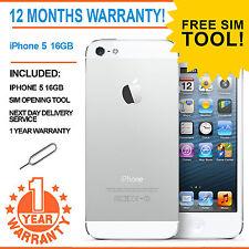 Apple Iphone 5 - 16 GB-Blanco y Plateado EE Naranja Smartphone T-Mobile Virgen