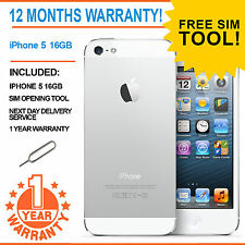 Apple iPhone 5 - 16 GB - White & Silver EE Orange T-Mobile Virgin Smartphone