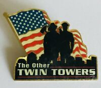 The Other Twin Towers Mining Workers Union Souvenir Pin Badge Rare Vintage (A12)