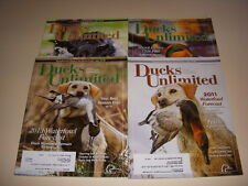 DUCKS UNLIMITED MAGAZINE, Lot of 4, 2011-2014, Shoot Like a Pro, Hunting Dogs!