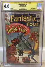 FANTASTIC FOUR #18 CGC 4.0 1ST APPEARANCE OF THE SUPER-SKRULL MCU STAN LEE SIGN