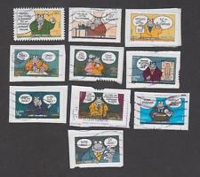 France -Timbres oblitérés - Série Le Chat de Geluck - N° 3825 à 3834 - 2005