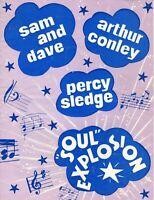 "SAM & DAVE/PERCY SLEDGE 1967 ""SOUL EXPLOSION"" TOUR PROGRAM BOOK-ARTHUR CONLEY"