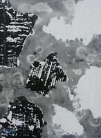 Modernist ABSTRACT B & W PAINTING Expressionist MODERN ART PURITY FOLTZ