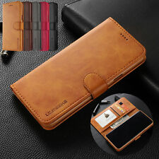 For Samsung Galaxy S10 S7 S9+ S8+ Leather Business Wallet Flip Phone Case Cover