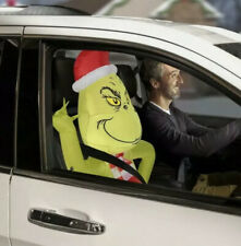 GEMMY The Grinch Car Buddy 3.5' Christmas Airblown Inflatable Light Up
