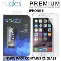 """For Apple iPhone 6 6S 4.7"""" 2 x Nuglas® Genuine Tempered Glass Screen Protector"""