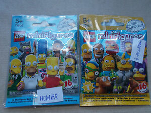 NEW LEGO MINIFIGURE SERIES & PACKET SIMPSONS SERIES 1 & 2 - PICK 1 YOU WANT