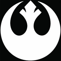 Star Wars Rebel Alliance Symbol - Decal / Sticker Choose Size & Color Free Ship