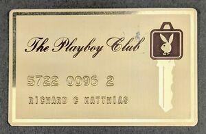 Playboy Club ~ Gold Metal Key Card - Bunny Rabbit Head Key Symbol Circa 1970's