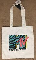 MTV Zebra Print Tote Bag MTV Retro Logo Throwback Vintage Design—NEW WITH TAGS!!