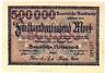 1923 Germany BAVARIA 500.000  Mark Banknote