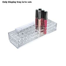 """count of 2 New 36 Slot Clear Mascara & Cosmetic Pegboard Tray 10.25""""W x 3""""D x2""""H"""