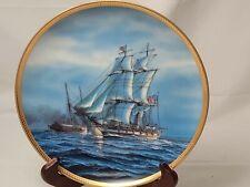 "Hamilton America's Greatest Sailing Ships Collector's Plate ""Enterprise"" 1987"