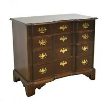CHIPPENDALE MAHOGANY BOW FRONT SERPENTINE CHEST BY CENTURY FURNITURE COMPANY