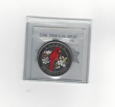 **2008,Northern Cardinal** Coin Mart Graded Canadian, 25 Cent, **SP-67**