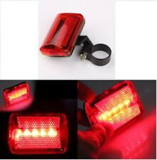 5 LED Bicycle Cycle Bike Red Beam Rear Lights Back Tail Lamp Light