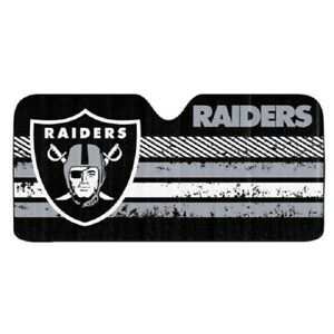 Las Vegas Raiders Auto Sun Shade, NFL Licensed Authentic Windshield Cover