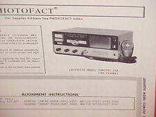 1969 LAFAYETTE CB RADIO SERVICE SHOP MANUAL MODEL COMSTAT 25A (99-3130WX)